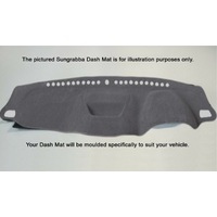Sungrabba Dash Mat To Suit Mitsubishi Triton MR Club Cab Two Door Utility 11/2018-2021 Grey