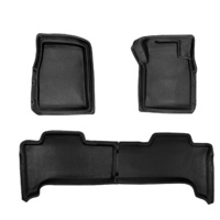 Sandgrabba Mats To Suit Mitsubishi Pajero NX Five Door Wagon 2014 - 2019 Black Floor Automatic Front And Rear