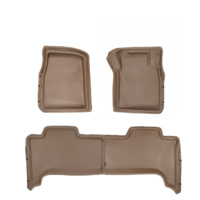 Sandgrabba Mats To Suit Landcruiser 70 78 79 Series Four Door Utility 2012-2019 Beige Floor Automatic Front And Rear